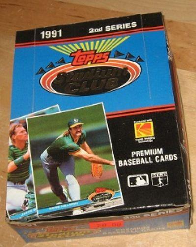 1991 Stadium Club Baseball Cards