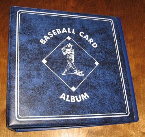 "BCW 3"" Blue Baseball Album + 100 6 Pocket Tall Trading"