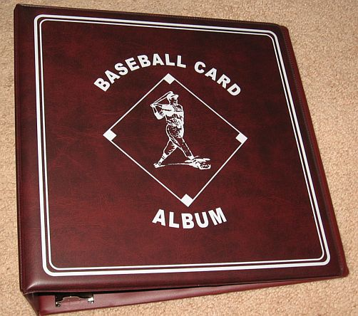 """Lot Of 4 BCW Burgundy Baseball Card Collection 3"""" D Ring"""