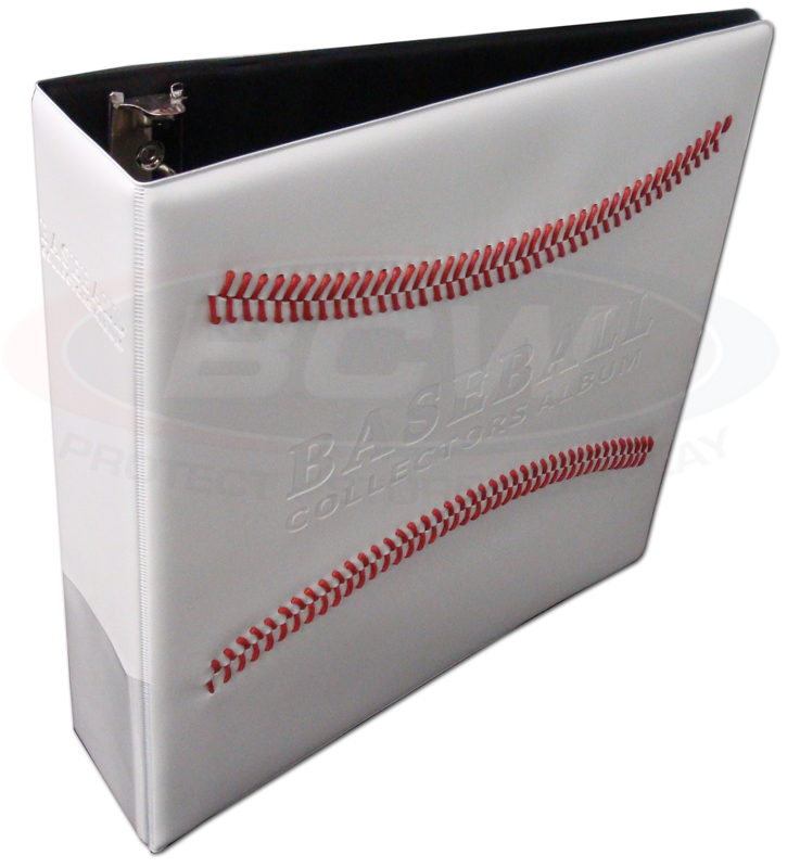 Case Of 12 BCW 3 Inch Baseball Trading Card Albums White W