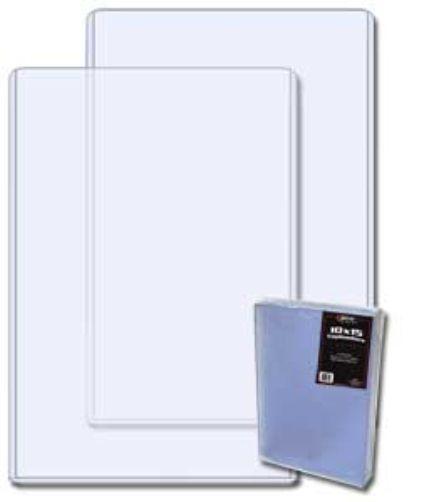 40 bcw 10 x 15 photo print hard plastic topload holders With document protectors hard plastic