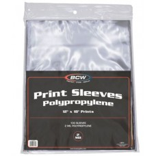 Pack of 100 BCW 12 x 18 Print / Poster Poly Sleeves Protectors
