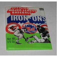 Unopened Wax Pack of 1968 Fleer Major League Baseball Iron Ons