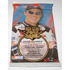 Unopened Hobby Pack 2002 Wheels High Gear NASCAR Trading Cards