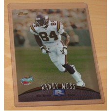 1998 Topps Finest Pro Bowl Jumbo Randy Moss Rookie Card