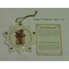 Set of 8 Mi Hummel Porcelain Christmas Tree Ornaments