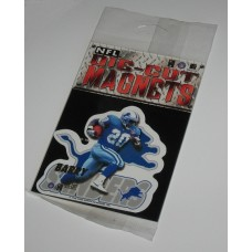 New 3 Inch Die Cut Barry Sanders 1996 NFL Superstar Magnet