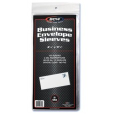 Pack of 100 BCW Business Envelope #10 2-Mil Soft Poly Sleeves