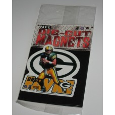 New 3 Inch Die Cut Brett Favre 1996 NFL Superstar Magnet
