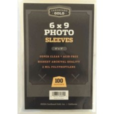 Pack of 100 CBG 6x9 Soft Poly Clear Archival Photo Sleeves