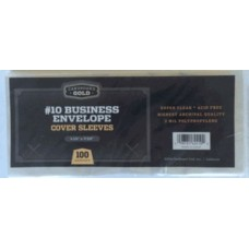Case of 2000 CBG Business Envelope #10 2 Mil Clear Poly Sleeves