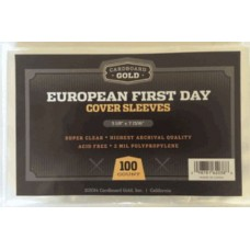 Pack of 100 CBG European First Day Cover 2 Mil Poly Sleeves