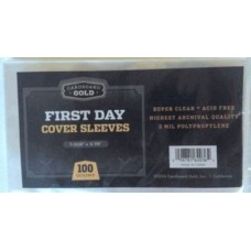 Pack of 100 CBG First Day Cover Archival Soft Poly Sleeves
