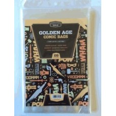 Pack of 100 CBG Golden Comic Book Clear Archival 2Mil Poly Bags