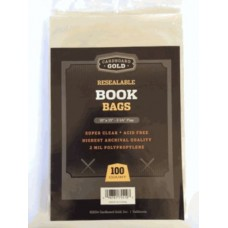 Pack of 100 CBG 10x13 Resealable Book Bags 2 Mil Archival