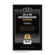 Pack of 50 CBG 12x19 Newspaper 2 Mil Clear Archival Poly Sleeves