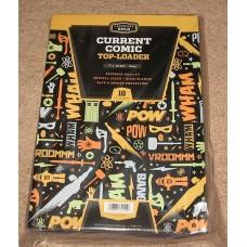 Pack of 10 CBG 7.5 x 11 x 5mm - Rigid Comic Book Topload Holders