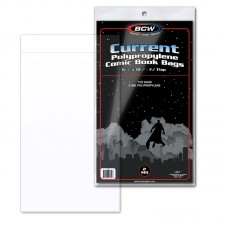 Pack of 100 BCW Current / Modern Comic Book Poly Bags -Acid Free