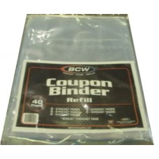 BCW Coupon Binder Refill Pack - 40 Assorted Pocket Pages