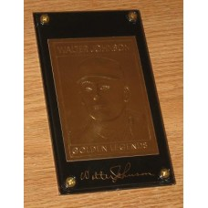 22Kt Golden Legends Baseball Gold Card - Walter Johnson