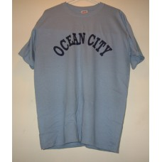 New Blue Medium Ocean City T-Shirt With Chest Logo