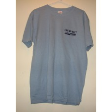 New Blue Medium Ocean City T-Shirt With = Paddles Logo