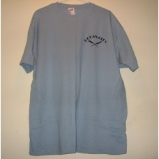 New Blue Medium Ocean City T-Shirt With x Paddles Logo