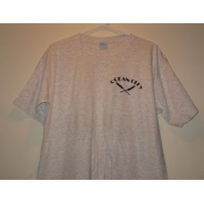New Gray Large Ocean City T-Shirt With x Paddles Logo