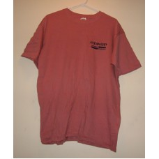 New Red Medium Ocean City T-Shirt With = Paddles Logo