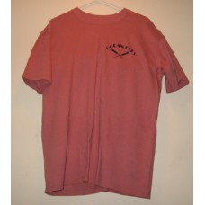 New Red Medium Ocean City T-Shirt With x Paddles Logo