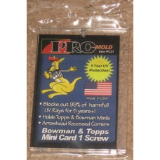 Box of 25 Pro-Mold PC21 Topps / Bowman Mini Trading Card Holders