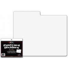 Pack of 10 BCW Postcard Dividers -  6 x 4 With 3 x 1/2 Tab