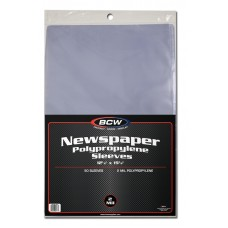 Pack of 50 BCW 12 x 19 Newspaper Acid Free Poly Sleeves 12x19