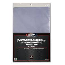 Pack of 50 BCW 12 x 19 Newspaper Acid Free Poly Sleeves 12x19