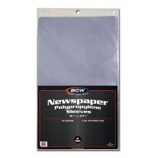 Pack of 50 BCW 16 x 24 Newspaper Acid Free Poly Sleeves 16x24