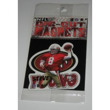 New 3 Inch Die Cut Steve Young 1996 NFL Superstar Magnet