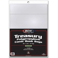 Pack of 100 BCW Resealable Treasury Comic Book Poly Bags
