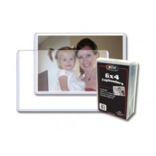 Pack of 25 BCW 6 x 4 - Hard Plastic Topload Photo Holders 6x4