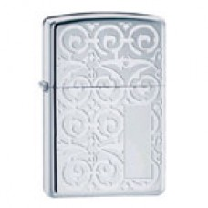 2002 Zippo Lighter # 20198 Scroll Design with Panel