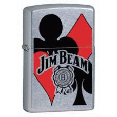 Zippo Lighter 24054 Jim Beam Cards Card Suits Design with Tin