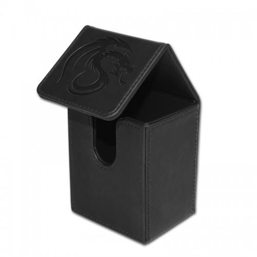 ... BCW Black Deck Case LX Gaming Card Leatherette Storage Box