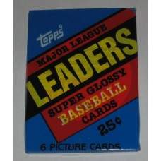 Factory Sealed Pack 1986 Topps Major League Leaders Super Glossy Baseball Cards