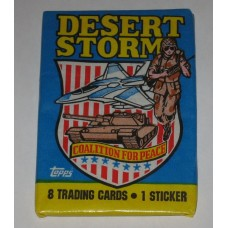 Factory Sealed Unopened 8 Card Pack 1991 Topps Desert Storm Trading Cards
