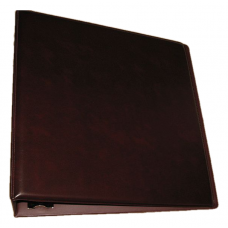 BCW 3 Inch Burgundy Plain / Blank D-Ring Album binder