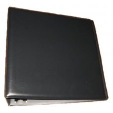BCW 3 Inch Black Plain / Blank D-Ring Album binder