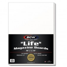 Pack of 100 BCW Life Magazine Acid Free Backer Boards