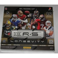 Factory Sealed 10 Pack Box 2013 Panini Rookies and Stars Longevity Football Cards
