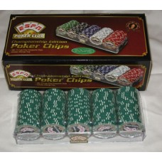 100 Green ESPN Poker Club Championship Edition 11.5 Gram Chips with Storage Tray