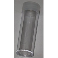 10 BCW Clear Round Dime Coin Tubes With Frosted Screw On Cap