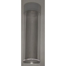 10 BCW Clear Round Nickel Coin Tubes With Frosted Screw On Cap